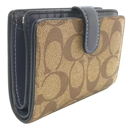 Coach NEW COACH Medium Coated Canvas Zip Wallet Image 5