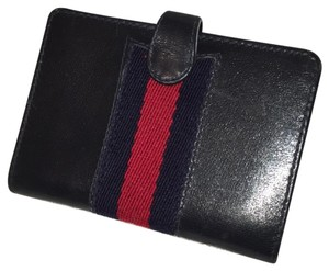 Gucci navy credit card business card case web wallet tradesy gucci credit card business card case web colourmoves