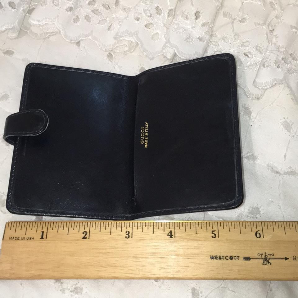 Gucci Navy Credit Card Business Card Case Web Wallet - Tradesy