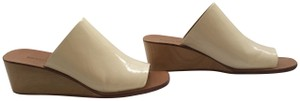 Rachel Comey Wedge Patent Leather Creamsicle, Cream, Off-White Mules