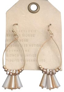 Anthropologie neutral Dingaling/Crystals Hoops