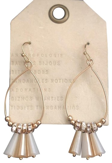 Preload https://img-static.tradesy.com/item/23623512/anthropologie-neutralyellow-gold-dingalingcrystals-hoops-earrings-0-1-540-540.jpg