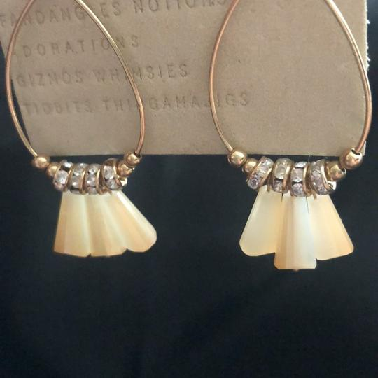 Anthropologie neutral Dingaling/Crystals Hoops Image 1