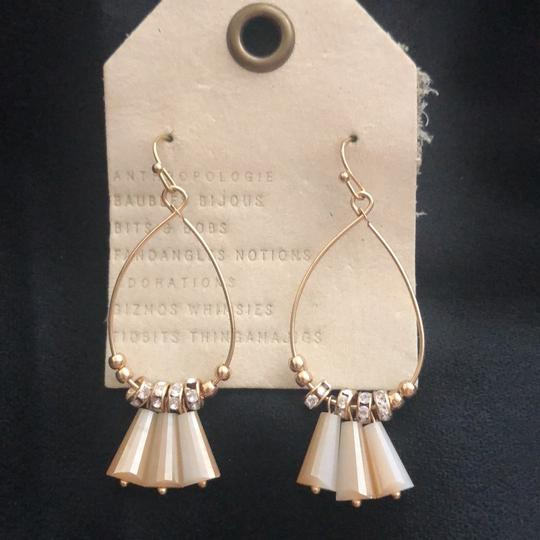 Anthropologie neutral Dingaling/Crystals Hoops Image 2