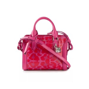 Alexander McQueen Limited Edition Convertible Padlock Skull Attention Satchel in Pink