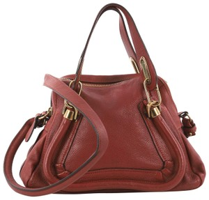 Chloé Paraty Top Handle Satchel in red