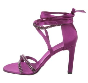 Gucci Tom Ford Heels Evening Crystal Purple Sandals