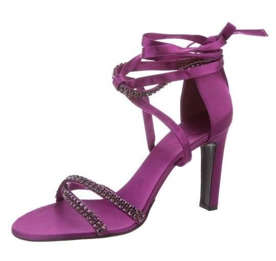 Gucci Tom Ford Heels Evening Crystal Purple Sandals Image 1
