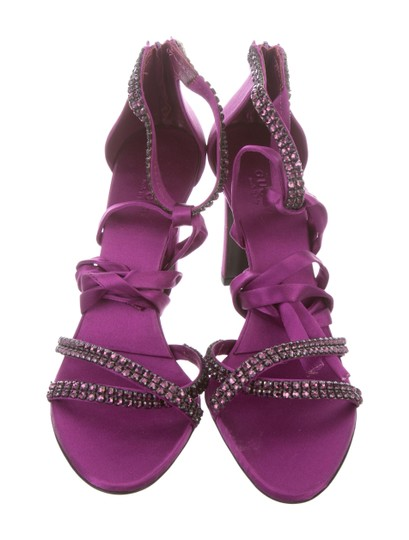 Gucci Tom Ford Heels Evening Crystal Purple Sandals Image 2