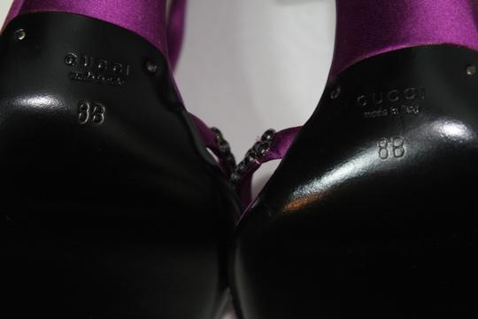 Gucci Tom Ford Heels Evening Crystal Purple Sandals Image 7
