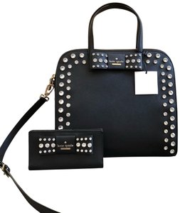 Kate Spade Davies Mews Merriam Large Satchel in Black