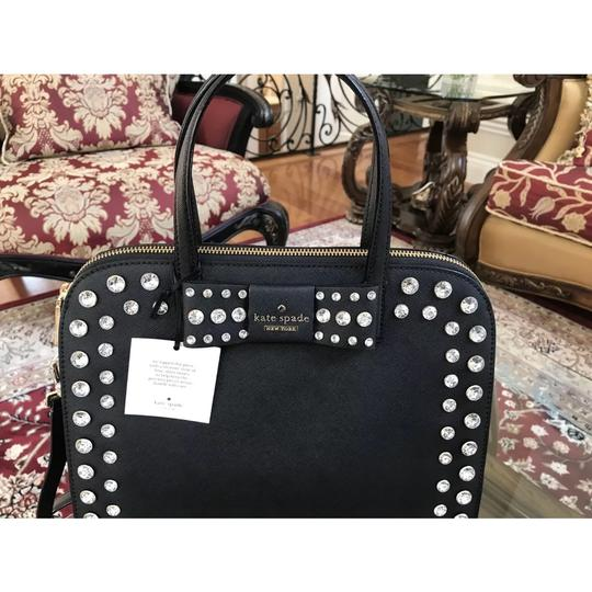 Kate Spade Davies Mews Merriam Large Satchel in Black Image 6