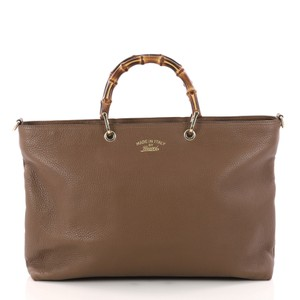 8d9dfcd2768 Gucci Bamboo Shopper Large Brown Leather Tote - Tradesy