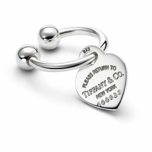 Tiffany & Co. Large heart tag key ring