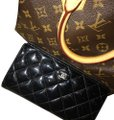 Chanel Black Patent Leather Long Wallet Image 0