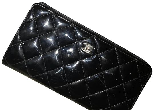 Chanel Black Patent Leather Long Wallet Image 2
