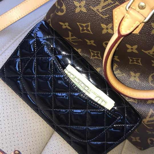 Chanel Black Patent Leather Long Wallet Image 4