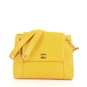 Chanel Vintage Tote in yellow