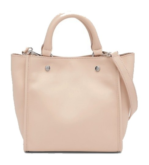 Sam Edelman Leather Exterior Dual Top Handles Magnetic Closure Tote in PInk Image 1