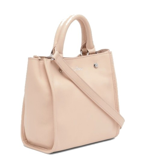 Sam Edelman Leather Exterior Dual Top Handles Magnetic Closure Tote in PInk Image 2