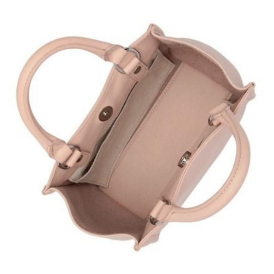 Sam Edelman Leather Exterior Dual Top Handles Magnetic Closure Tote in PInk Image 3