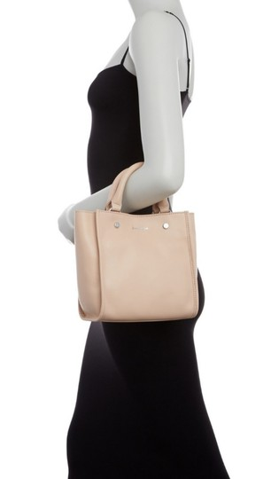 Sam Edelman Leather Exterior Dual Top Handles Magnetic Closure Tote in PInk Image 5