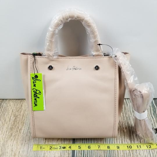 Sam Edelman Leather Exterior Dual Top Handles Magnetic Closure Tote in PInk Image 6