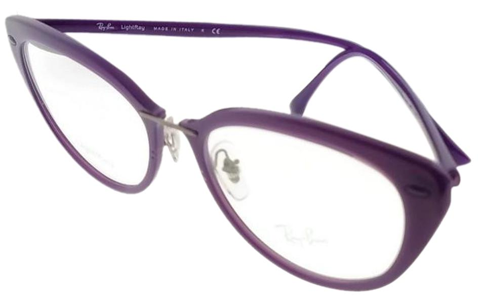 56adc4f316 Ray-Ban RX7088-5617-54 Light Ray Women s Violet Frame Clear Lens Eyeglasses  ...
