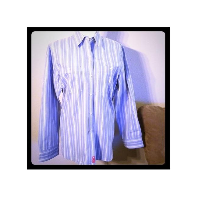 Preload https://img-static.tradesy.com/item/23624113/lauren-ralph-lauren-blue-and-white-striped-button-down-top-size-14-l-0-0-650-650.jpg