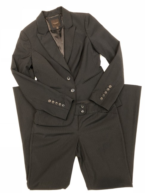 The Limited The Limited Collection PINSTRIPE SUIT Jacket 4 Black Image 5