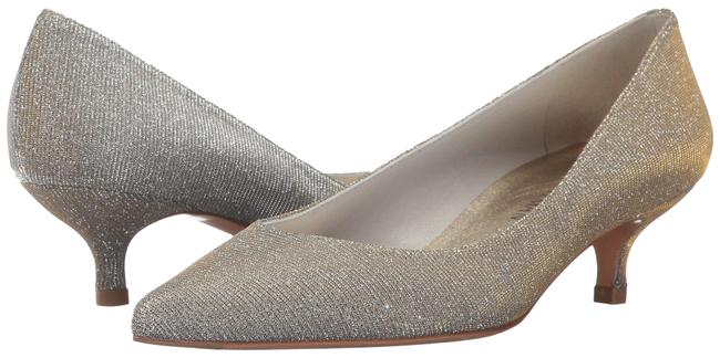 Item - Silver Poco Magnesium Nocturn Kitten Heel Pumps Formal Shoes Size US 6.5 Wide (C, D)