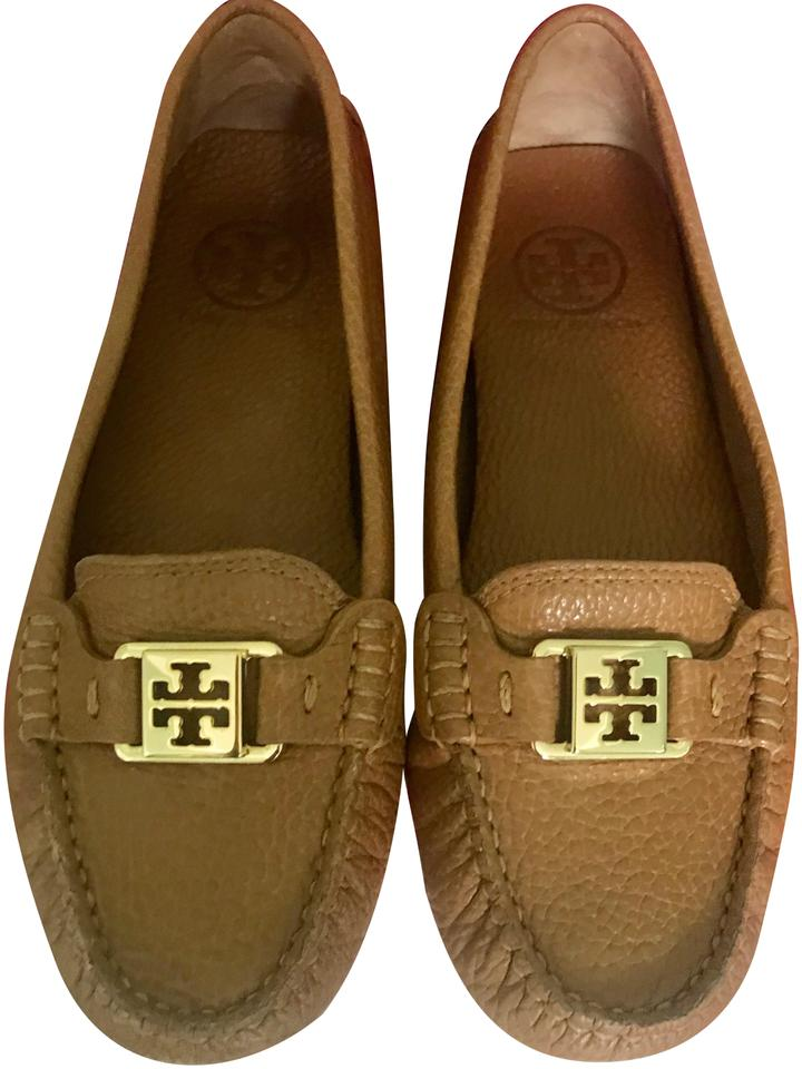 62768c13609955 Tory Burch Royal Tan Kendrick Leather Driver Loafers Flats Size US 7 ...