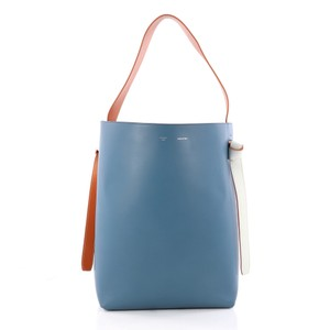 Céline Twisted Tote in blue and black