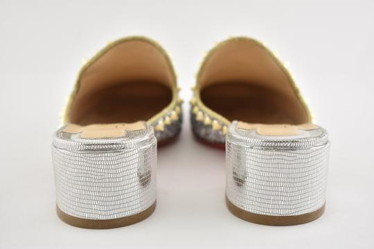 Christian Louboutin Slide Loafer Spike Spiky silver Mules Image 10