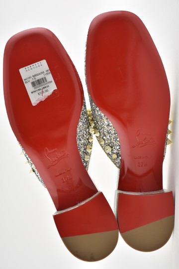Christian Louboutin Slide Loafer Spike Spiky silver Mules Image 11