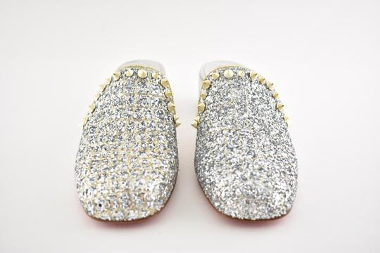 Christian Louboutin Slide Loafer Spike Spiky silver Mules Image 3