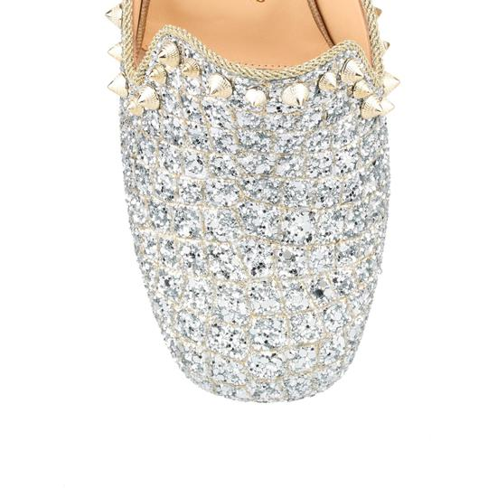 Christian Louboutin Slide Loafer Spike Spiky silver Mules Image 4