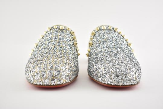Christian Louboutin Slide Loafer Spike Spiky silver Mules Image 5