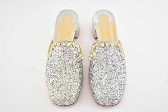 Christian Louboutin Slide Loafer Spike Spiky silver Mules Image 7