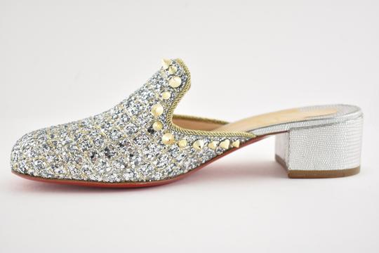 Christian Louboutin Slide Loafer Spike Spiky silver Mules Image 8