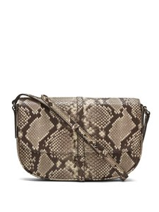 Banana Republic Snake Like Leather Leather Cross Body Bag