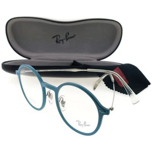 Ray-Ban RX7087-5638-48 Round Women's Blue Frame Clear Lens Eyeglasses
