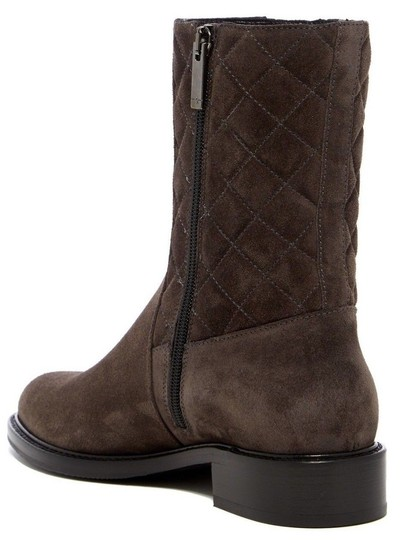 Aquatalia Suede Leather Quilted Midcalf Dark Grey Boots Image 1