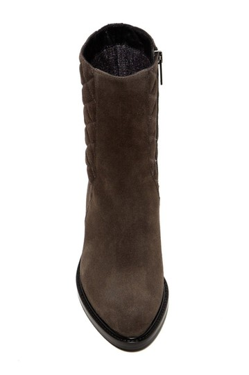 Aquatalia Suede Leather Quilted Midcalf Dark Grey Boots Image 2
