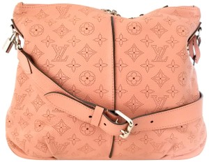 Louis Vuitton Selene Leather Lv Monogram Mahina Hobo Bag