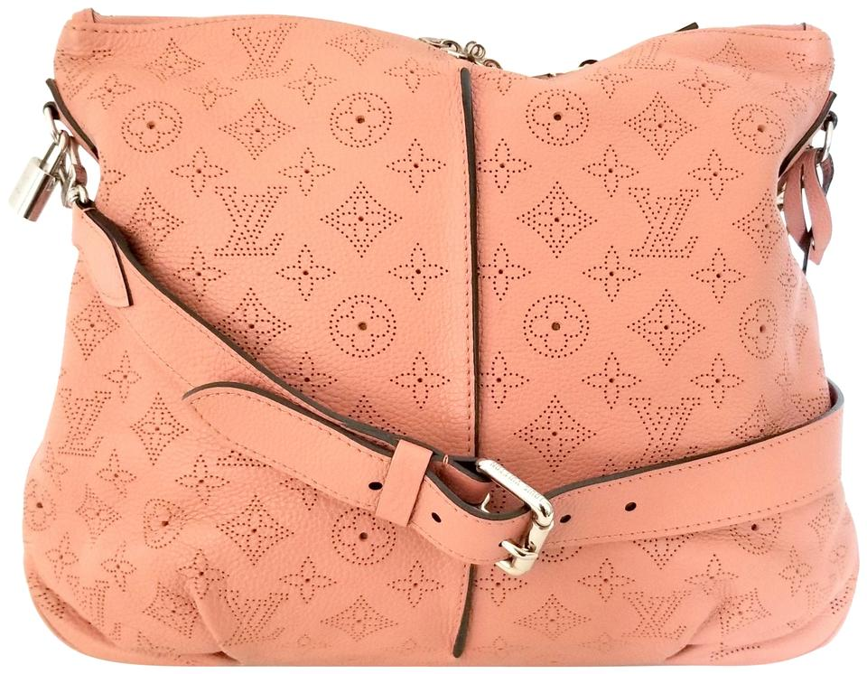 5d4dc32ccc Louis Vuitton Selene Mahina Handbag Pm Pink Salmon Leather Hobo Bag ...