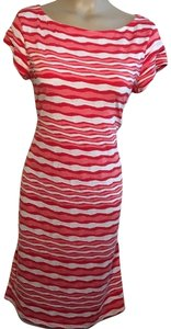 Sharagano short dress White & Red on Tradesy