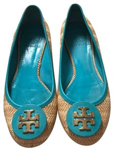 Tory Burch natural / turquoise Flats