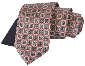 Prada Multicolor New Men's Cravatta Twill Medaglion Rosa Ucr77 Neck Tie/Bowtie