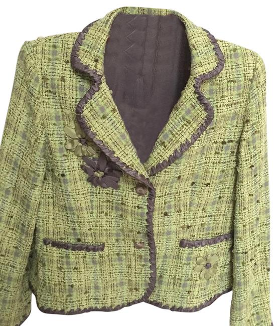 Item - Pistachio Green Tweed W/ Grey Skirt Suit Size 10 (M)